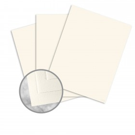 Neenah Cotton Natural White Paper - 8 1/2 x 11 in 24 lb Writing Wove 100% Cotton Watermarked 500 per Package