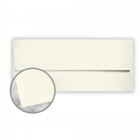 CRANE'S CREST Pearl White Envelopes - No. 10 Square Flap (4 1/8 x 9 1/2) 24 lb Writing Wove  100% Cotton Watermarked 500 per Box