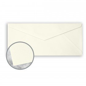 CRANE'S CREST Pearl White Envelopes - No. 10 V-Flap (4 1/8 x 9 1/2) 28 lb Writing Wove  100% Cotton Watermarked 500 per Box