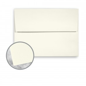 CRANE'S CREST Pearl White Envelopes - A6 (4 3/4 x 6 1/2) 28 lb Writing Wove  100% Cotton Watermarked 250 per Box