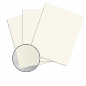 CRANE'S CREST Pearl White Card Stock - 26 x 20 in 110 lb Cover Smooth  100% Cotton 125 per Package