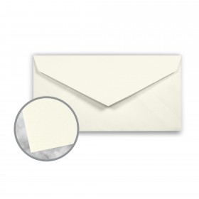 CRANE'S CREST Pearl White Envelopes - Monarch (3 7/8 x 7 1/2) 24 lb Writing Wove  100% Cotton Watermarked 500 per Box