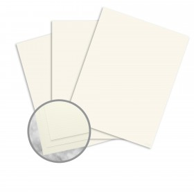 CRANE'S CREST Pearl White Paper - 35 x 23 in 24 lb Writing Laid  100% Cotton Watermarked 1500 per Carton