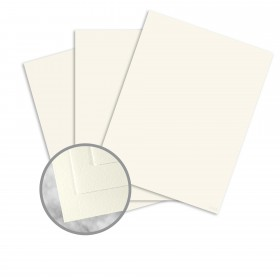 CRANE'S CREST Pearl White Paper - 8 1/2 x 11 in 24 lb Writing Wove  100% Cotton Watermarked 500 per Ream
