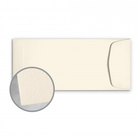 CRANE'S LETTRA Ecru White Envelopes - No. 10 Policy (4 1/8 x 9 1/2) 32 lb Writing Lettra  100% Cotton 200 per Box