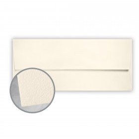 CRANE'S LETTRA Pearl White Envelopes - No. 10 Square Flap (4 1/8 x 9 1/2) 32 lb Writing Lettra  100% Cotton 200 per Box