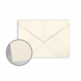 CRANE'S LETTRA Ecru White Envelopes - No. 4 Baronial (3 5/8 x 5 1/8) 32 lb Writing Lettra  100% Cotton 200 per Box