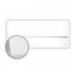 CRANE'S LETTRA Fluorescent White Envelopes - No. 10 Square Flap (4 1/8 x 9 1/2) 32 lb Writing Lettra  100% Cotton 200 per Box