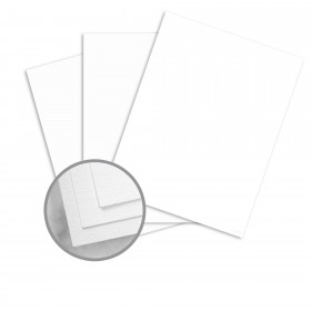 Neenah Cotton Fluorescent White Card Stock - 8 1/2 x 11 in 110 lb Cover Letterpress 100% Cotton 125 per Package