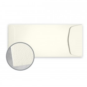 CRANE'S LETTRA Pearl White Envelopes - No. 10 Policy (4 1/8 x 9 1/2) 32 lb Writing Lettra  100% Cotton 200 per Box