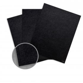 Ruche Black Card Stock - 8 1/2 x 11 in 100 lb Cover Crepe 100% Recycled 125 per Package