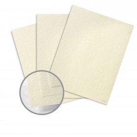 Ruche Cream Card Stock - 8 1/2 x 11 in 100 lb Cover Crepe  80% Recycled 125 per Package