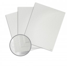 Ruche White Card Stock - 8 1/2 x 11 in 170 lb Cover DT Crepe 80% Recycled 75 per Package