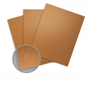 Curious Metallics Cognac Card Stock - 27 1/2 x 39 3/8 in 111 lb Cover Metallic C/2S 100 per Package