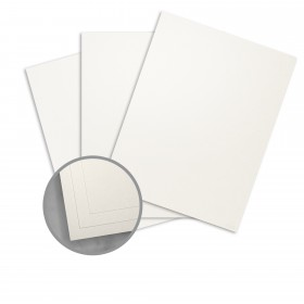 Curious Metallics Cryogen White Card Stock - 8 1/2 x 11 in 89 lb Cover Metallic C/2S 100 per Package