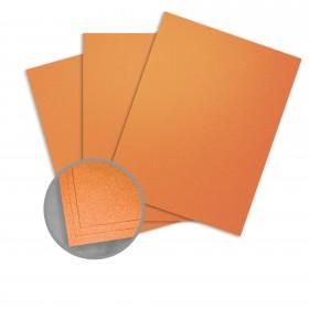 Curious Metallics Mandarin Card Stock - 8 1/2 x 11 in 111 lb Cover Metallic C/2S 100 per Package