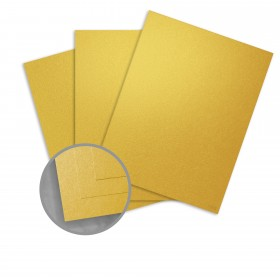 Curious Metallics Super Gold Paper - 8 1/2 x 11 in 80 lb Text Metallic C/2S 250 per Package