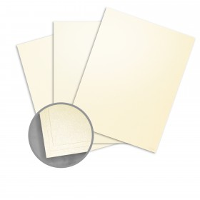 Curious Metallics White Gold Paper - 8 1/2 x 11 in 80 lb Text Metallic C/2S 250 per Package