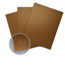 Elan Metallics Bronze Paper - 8 1/2 x 11 in 80 lb Text Metallic C/2S 250 per Package