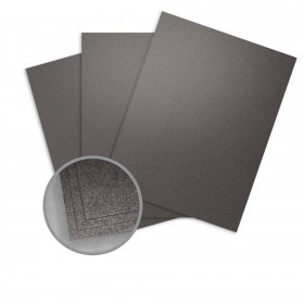 Elan Metallics Obsidian Card Stock - 12 x 12 in 107 lb Cover Metallic C/2S 250 per Package