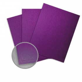 Elan Metallics Plum Paper - 12 x 12 in 80 lb Text Metallic C/2S 250 per Package