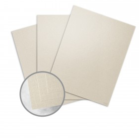 ESSE Pearlized Latte Card Stock - 26 x 40 in 105 lb Cover Texture C/2S  30% Recycled 250 per Carton