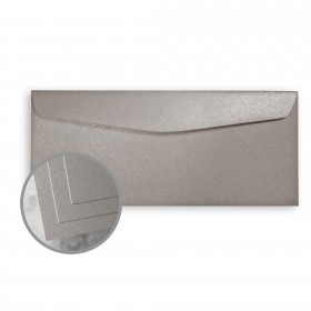 ESSE Pearlized Silver Envelopes - No. 10 Commercial (4 1/8 x 9 1/2) 80 lb Text Smooth C/2S  30% Recycled 500 per Box