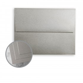 ESSE Pearlized Silver Envelopes - A7 (5 1/4 x 7 1/4) 80 lb Text Smooth C/2S  30% Recycled 250 per Box