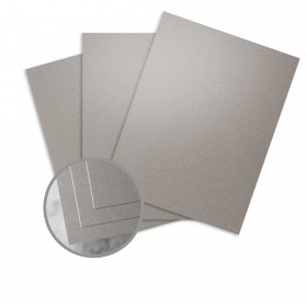 ESSE Pearlized Silver Paper - 25 x 38 in 80 lb Text Smooth C/2S  30% Recycled 500 per Carton