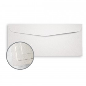ESSE Pearlized White Envelopes - No. 10 Commercial (4 1/8 x 9 1/2) 80 lb Text Smooth C/2S  30% Recycled 500 per Box