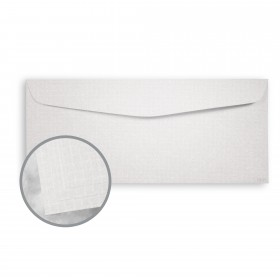 ESSE Pearlized White Envelopes - No. 10 Commercial (4 1/8 x 9 1/2) 80 lb Text Texture C/2S  30% Recycled 500 per Box