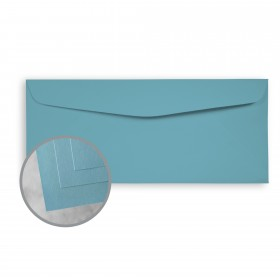 Exact Brights Bright Blue Envelopes - No. 10 Commercial (4 1/8 x 9 1/2) 60 lb Text Smooth 500 per Box