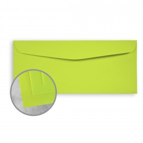 Exact Brights Bright Green Envelopes - No. 10 Commercial (4 1/8 x 9 1/2) 60 lb Text Smooth 500 per Box