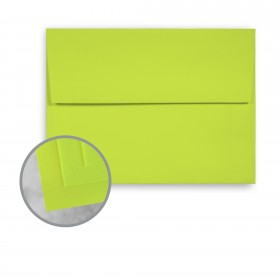 Exact Brights Bright Green Envelopes - A2 (4 3/8 x 5 3/4) 60 lb Text Smooth 250 per Box