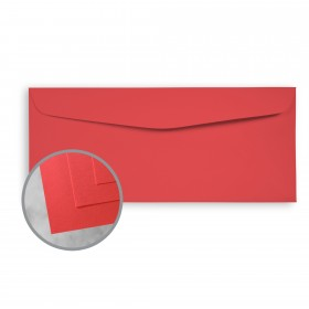 Exact Brights Bright Red Envelopes - No. 10 Commercial (4 1/8 x 9 1/2) 60 lb Text Smooth 500 per Box