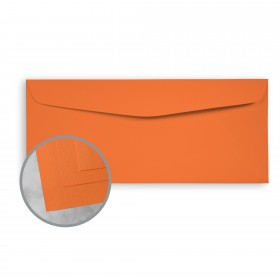 Exact Brights Bright Tangerine Envelopes - No. 10 Commercial (4 1/8 x 9 1/2) 60 lb Text Smooth 500 per Box