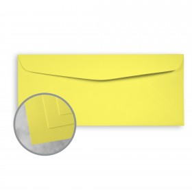 Exact Brights Bright Yellow Envelopes - No. 10 Commercial (4 1/8 x 9 1/2) 60 lb Text Smooth 500 per Box
