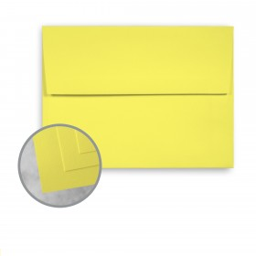 Exact Brights Bright Yellow Envelopes - A6 (4 3/4 x 6 1/2) 60 lb Text Smooth 250 per Box