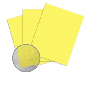 Exact Brights Bright Yellow Card Stock - 8 1/2 x 11 in 65 lb Cover Smooth 250 per Package