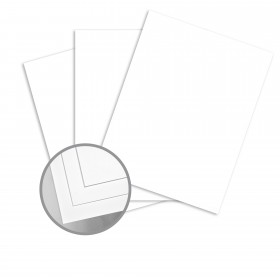 Futura White Card Stock - 19 x 13 in 80 lb Cover Dull C/2S 250 per Package