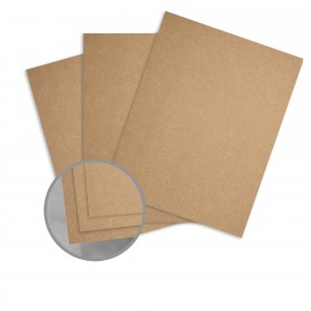 Kraft Brown/Brown Paper - 8 1/2 x 11 in 68 lb Text Fiber 25 per Package