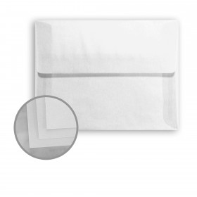 Glama Natural Clear Envelopes - A6 (4 3/4 x 6 1/2) 29 lb Bond Translucent Vellum 250 per Box
