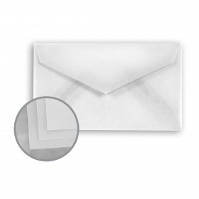 Glama Natural Clear Envelopes - Mini-lope (3 5/8 x 2 1/8) 29 lb Bond Translucent Vellum 500 per Carton