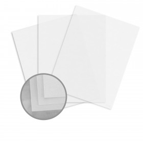 Glama Natural Clear Paper - 8 1/2 x 11 in 29 lb Bond Translucent Vellum 500 per Ream