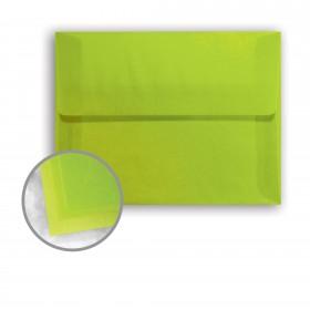 Glama Natural Kiwi Envelopes - A2 (4 3/8 x 5 3/4) 27 lb Bond Translucent Vellum 250 per Box