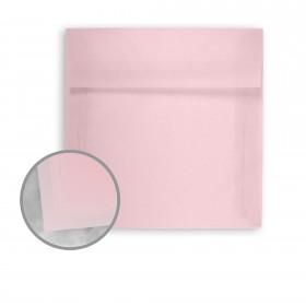 Glama Natural Pastel Pink Envelopes - No. 10 Square Flap (4 1/8 x 9 1/2) 27 lb Bond Translucent Vellum 500 per Box