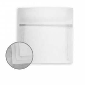 Glama Natural Recycled Envelopes - No. 7 Square (7 x 7) 24 lb Bond Translucent Vellum  30% Recycled 250 per Box