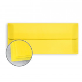 Glama Natural Yellow Envelopes - No. 10 Square Flap (4 1/8 x 9 1/2) 27 lb Bond Translucent Vellum 500 per Box
