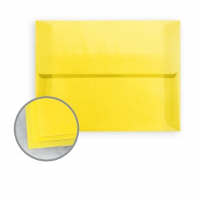 Glama Natural Yellow Envelopes - A7 (5 1/4 x 7 1/4) 27 lb Bond Translucent Vellum 250 per Box