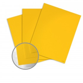 Glo-Tone Shocking Yellow Card Stock - 8 1/2 x 11 in 65 lb Cover Vellum  100% Recycled 250 per Package